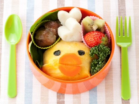 Chick omelet rice BENTO