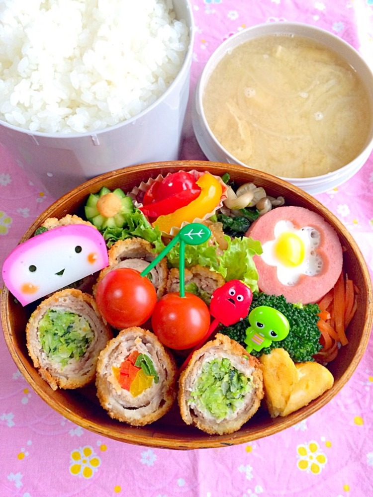 お野菜たっぷりロールフライ弁当