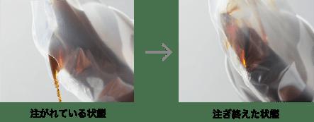 ペットボトルなどでは使った分だけ空気が入り酸化が進みます。